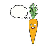 Cartoon carrot with thought bubble Stock Photos