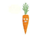Cartoon carrot with thought bubble Stock Image