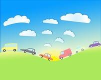 cartoon cars Royalty Free Stock Photo