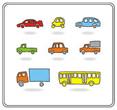 Cartoon cars royalty free illustration