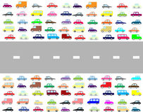 Cartoon cars Stock Photography