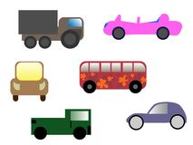 Cartoon cars Stock Image
