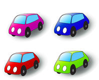 Cartoon cars stock images