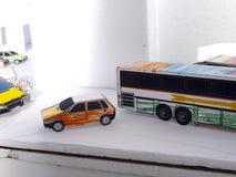 Cartoon cars and buses Royalty Free Stock Photos