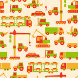 Cartoon cars pattern Royalty Free Stock Image
