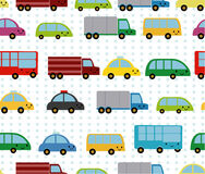 Cartoon cars seamless pattern Royalty Free Stock Photos