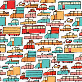 Cartoon cars seamless pattern Stock Photo