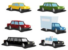 Cartoon Cars Set Royalty Free Stock Images