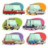 Cartoon Cars Set Stock Images
