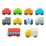Cartoon cars set Stock Photography