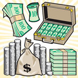Cartoon Cash Royalty Free Stock Photo