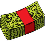 Cartoon Cash Stock Photos