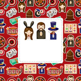Cartoon casino card Stock Images
