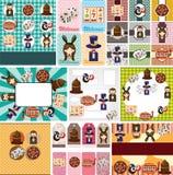 Cartoon casino card. Vector,illustration Stock Photos