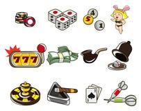 Cartoon casino icon. Vector drawing Royalty Free Stock Photo