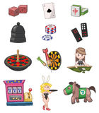 Cartoon casino icon Stock Photos
