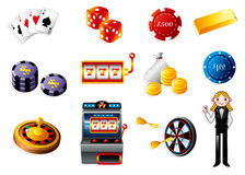 Cartoon casino icon. Vector drawing Royalty Free Stock Photography