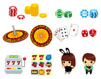 Cartoon casino icon Stock Photography