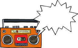 Cartoon cassette player Stock Images