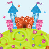 Cartoon castle Royalty Free Stock Photography