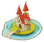 Cartoon castle stock illustration