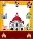 Cartoon castle card. Drawing Royalty Free Stock Photos