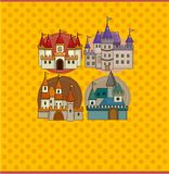 Cartoon castle card Royalty Free Stock Image