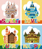 Cartoon castle card Royalty Free Stock Images