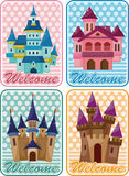 Cartoon castle card royalty free illustration