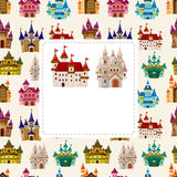 Cartoon castle card Stock Image