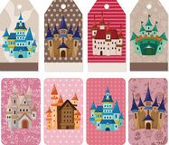 Cartoon castle card Royalty Free Stock Photography