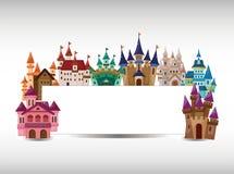 Cartoon castle card Royalty Free Stock Photography