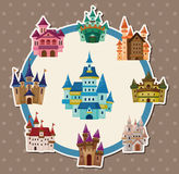 Cartoon castle card Royalty Free Stock Photo