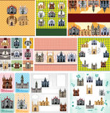 Cartoon castle card Stock Photo