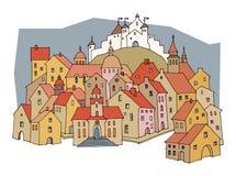 Cartoon castle Stock Images