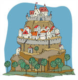Cartoon castle Royalty Free Stock Image