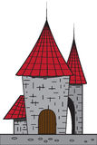 Cartoon castle Stock Image