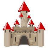 Cartoon castle isolated on white Stock Image