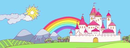 Cartoon castle Stock Photos