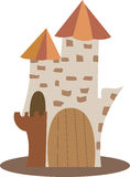 Cartoon castle Stock Photo