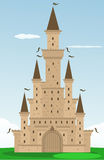 Cartoon castle Stock Images