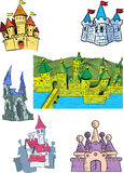 Cartoon castles Stock Photo