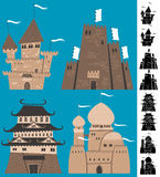 Cartoon Castles Royalty Free Stock Images