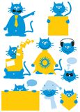 Cartoon cat Royalty Free Stock Photos
