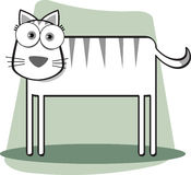 Cartoon cat. With Big Eye Stock Photography