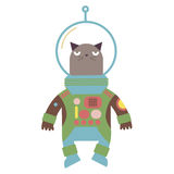 Cartoon cat astronaut vector illustration Stock Image