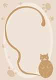 Cartoon cat background Stock Images
