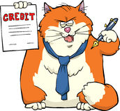 Cartoon cat banker Royalty Free Stock Photos