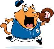 Cartoon Cat Baseball Stock Photography