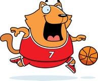 Cartoon Cat Basketball Royalty Free Stock Photo